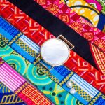 Bracelet médaille de nacre et son ruban à nouer - Andalousie