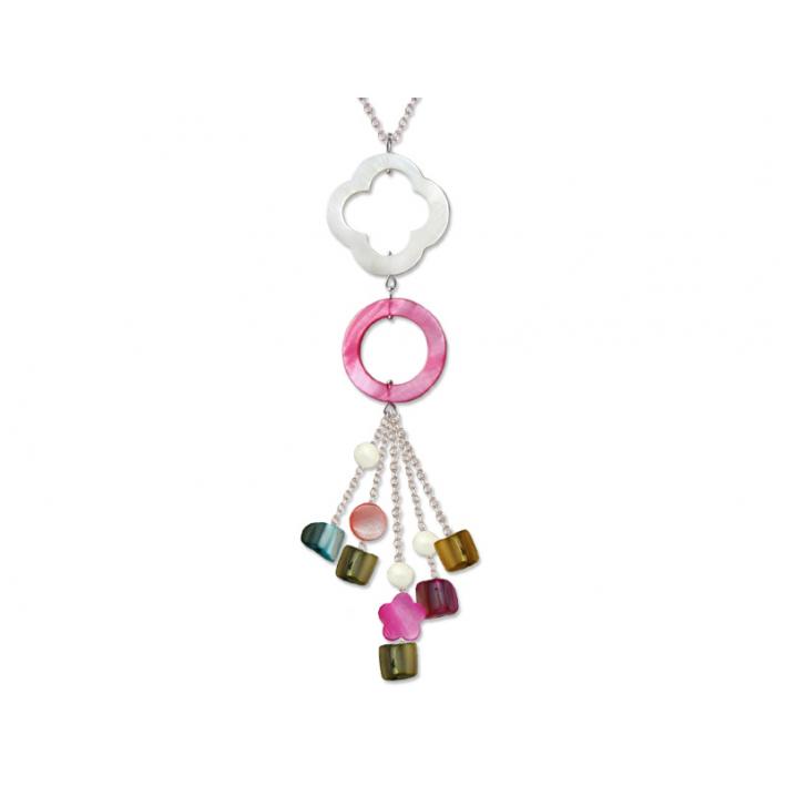 Sautoir Pampilles de Nacre Multicolore