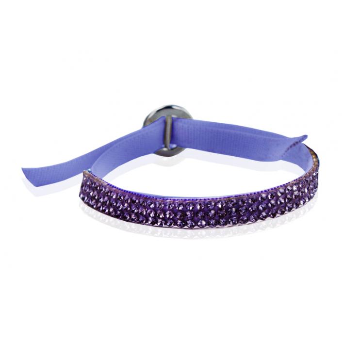 Bracelet strass star parme