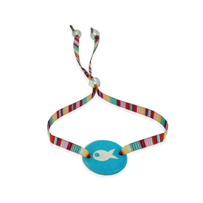 Bracelet poisson turquoise d'été