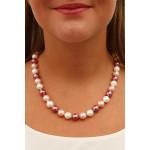 Collier perles de nacre en dégradé de roses élégance