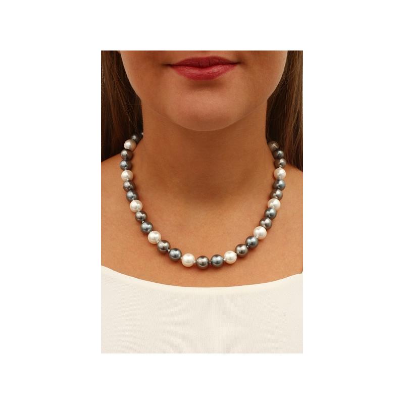 collier perle nacree blanche