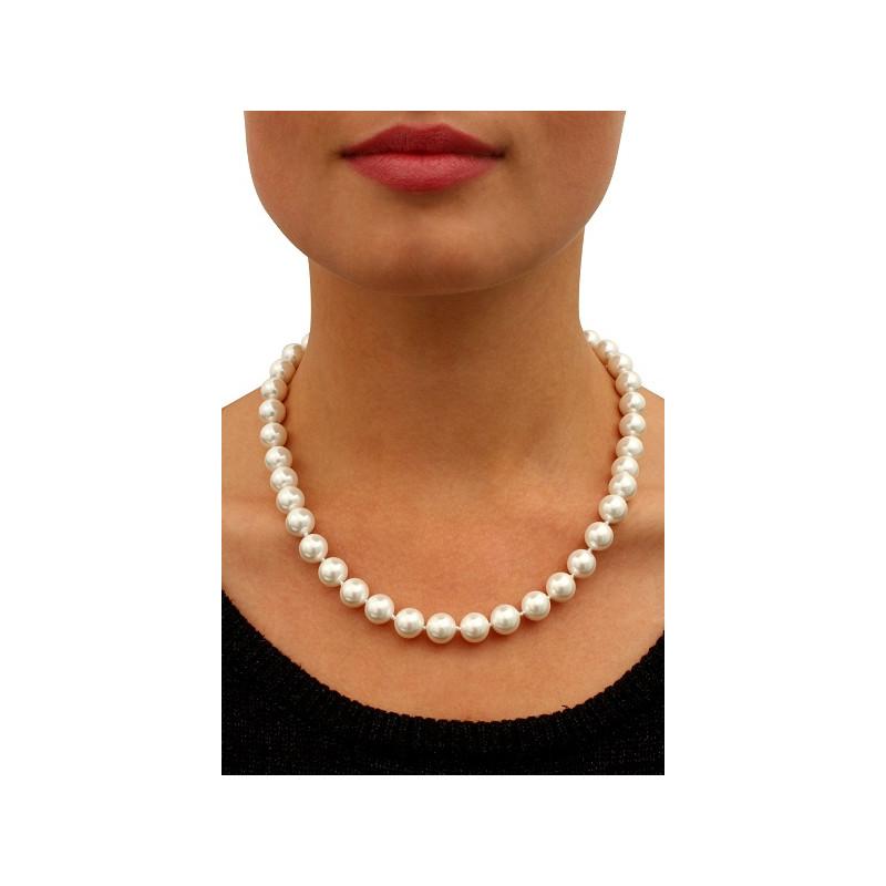 collier de perles blanches les perles. Black Bedroom Furniture Sets. Home Design Ideas