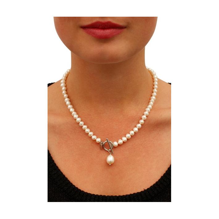 Collier Somptueux perles baroques en goutte