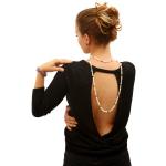 Sautoir Prestige perles de culture naturelles bicolore blanc et noir