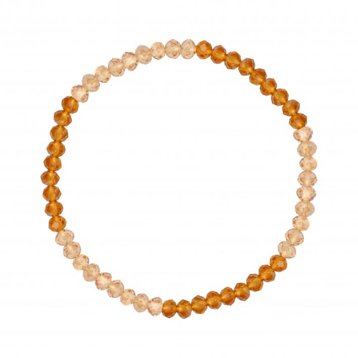 Bracelet élastique rivière duo de cristal doré