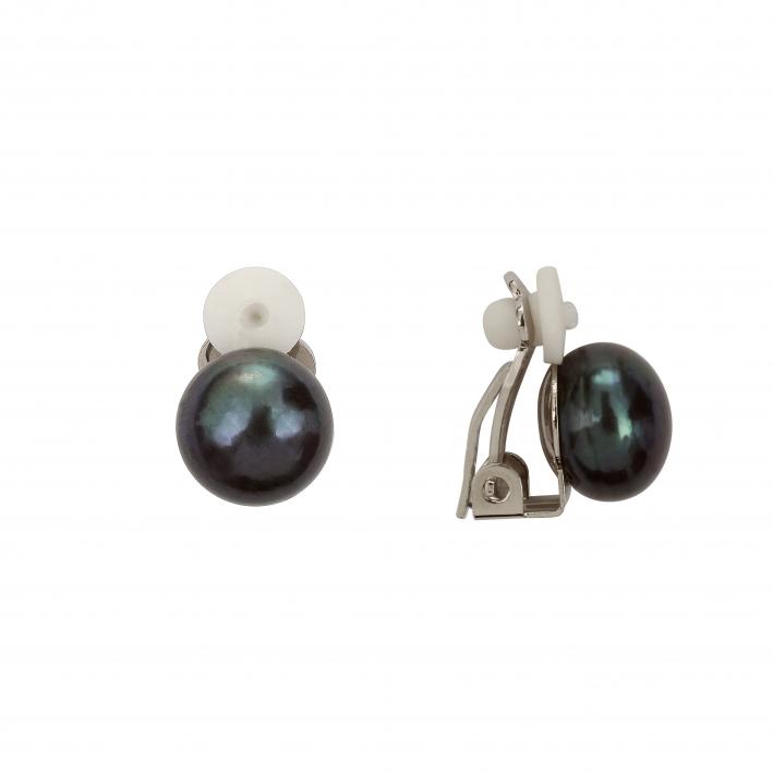 Boucles d'oreilles Clips Perle noire