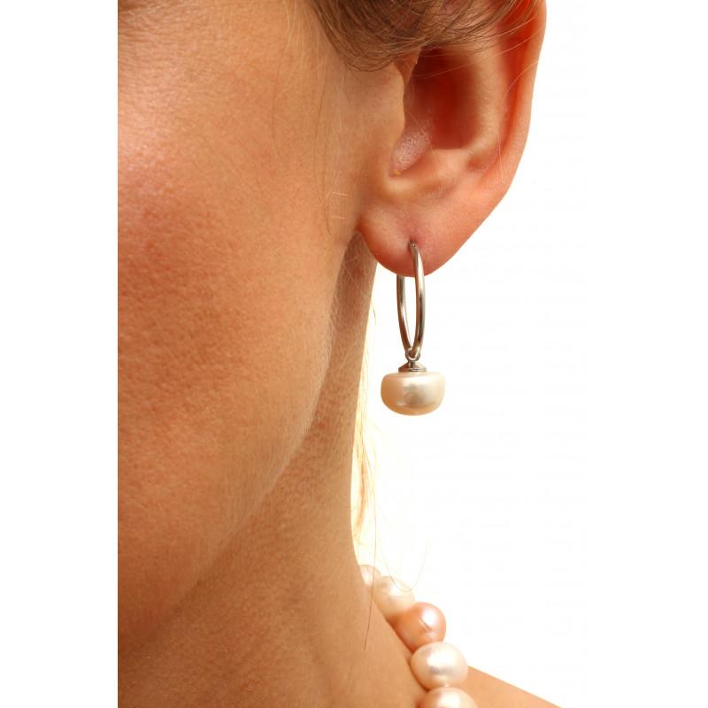boucles d oreilles perles blanches cr oles les perles. Black Bedroom Furniture Sets. Home Design Ideas