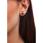 Boucles d'oreilles puce une perle de culture noire petite