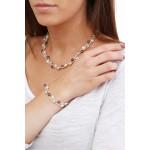 Bracelet 3 rangs perles de culture et de rocaille argentés