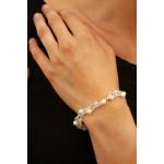 Bracelet 3 rangs perles de culture et de rocaille blanches