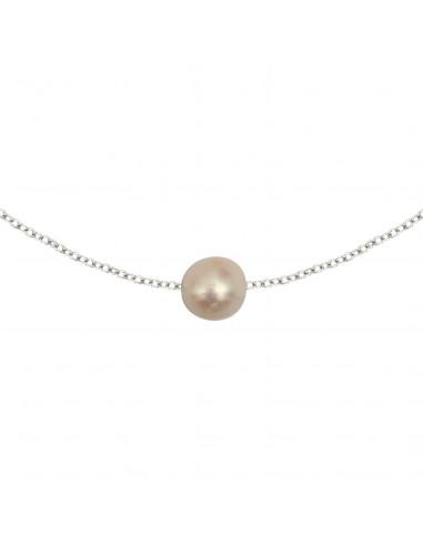 Collier une Perle sur chaine argentée