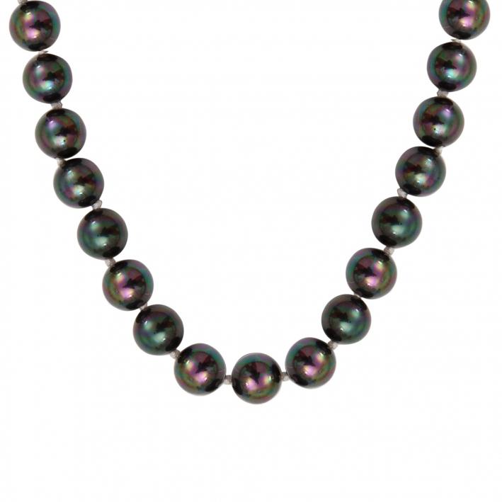 Collier perles de nacre noire naturelle