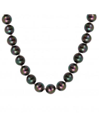 Collier perles de nacre noires