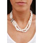 Collier Prestige trois rangs de perles de culture et shamballas