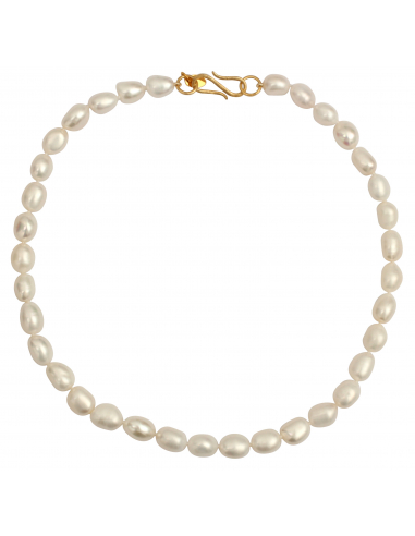 Collier prestige perles exceptionnelles blanches