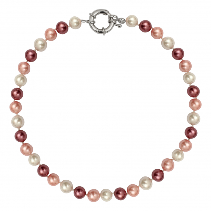 Collier nacre rose douceur