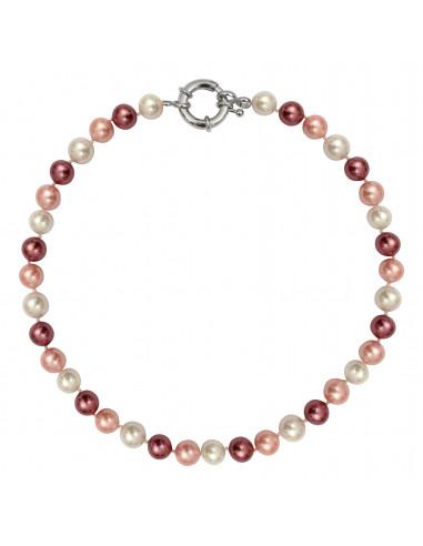 Collier perles de nacre en dégradé de roses