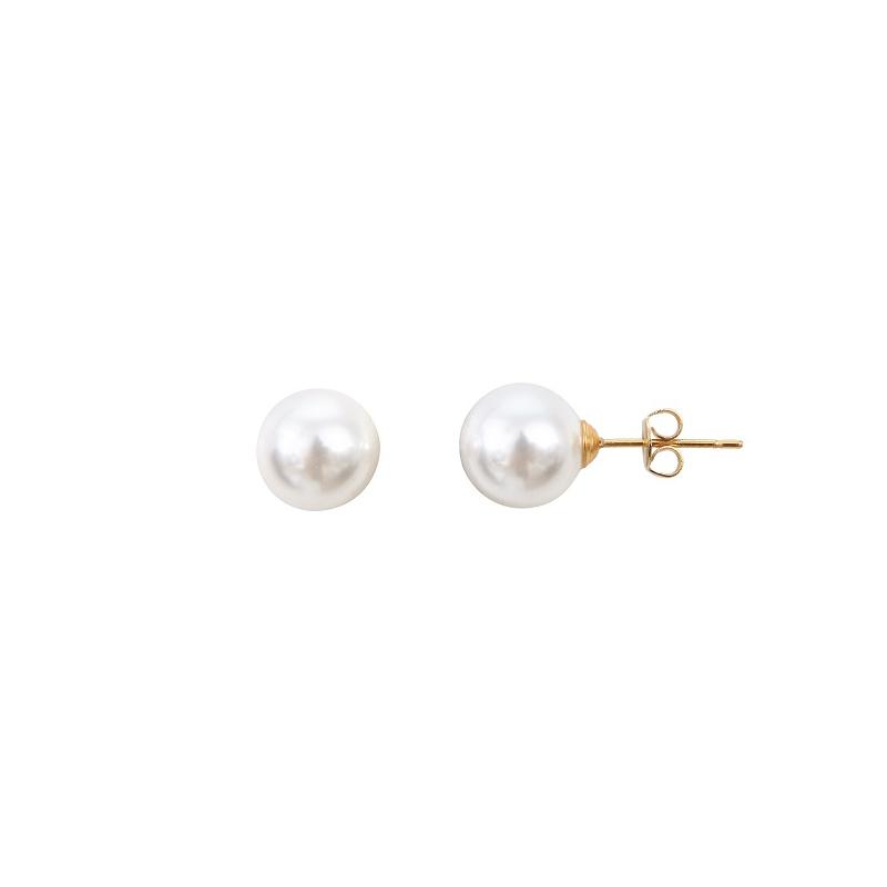 boucle d oreille perle blanche nacre naturelle perles de philippine. Black Bedroom Furniture Sets. Home Design Ideas