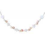 Collier harmonie d'étoiles de nacre et de perles de culture