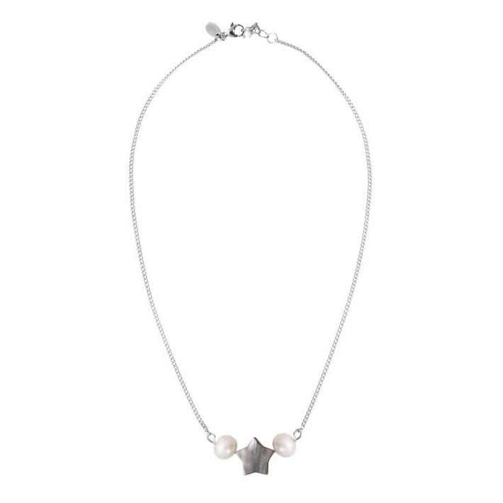 Collier prestige perles de nacre naturelles blanches