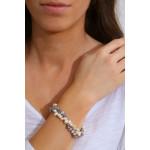 Bracelet Perles rares Pétales grises et blanches