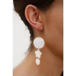 Boucles d'oreilles tryptique de nacre blanche