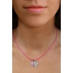 Collier rose médaille vierge et croix