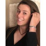Bracelet perles scintillantes et de culture blanches