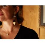 Collier pendentif une perle de culture sur chaîne dorée