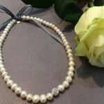 Collier Perles et Strass Shamballa blanc