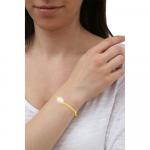 Bracelet une perle sur cordon satiné jaune