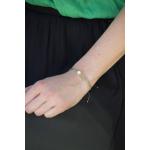 Bracelet perles de rocaille vert anis et perles