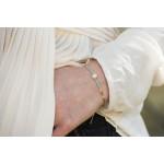Bracelet perles de rocaille turquoises et perles