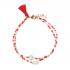 Bracelet perles de rocailles et étoile nacre blanche
