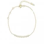 Bracelet petites perles de culture sur chaîne dorée