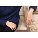 Bracelet perles de rocailles et médaille nacre Vierge rayonnante