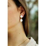 Boucles d'oreilles Clips perles de nacre blanche