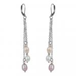 Boucles d'oreilles grappe de perles de culture naturelles