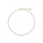 Collier petites perles de culture noires sur chaîne argentée
