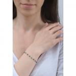 Bracelet petites perles de culture noires sur chaîne argentée