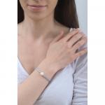 Bracelet une perle de culture blanche sur multi-cordon gris