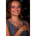Bracelet perles de nacre baroques couleur argentée