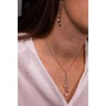 Collier cravate grappe de perles de culture naturelles