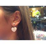 Boucles d'oreilles coeur nacre sur dore
