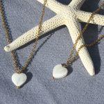 Collier pendentif coeur en nacre