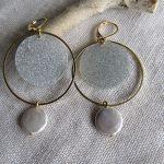 Boucles d'oreilles créoles duo doré et argenté