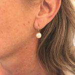 Boucles d'oreilles dormeuses perles baroques