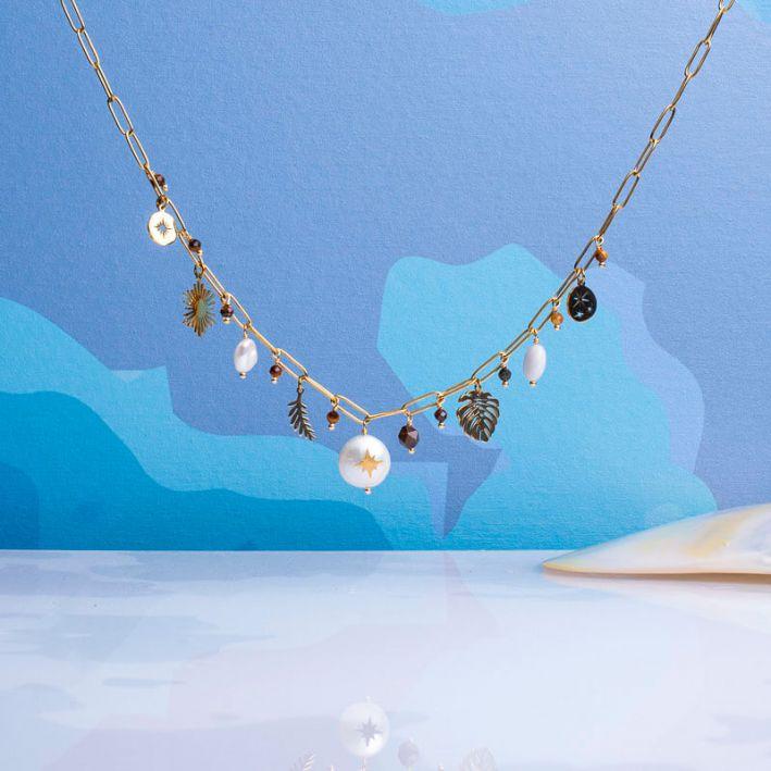 Collier un rang pampilles et perles baroques