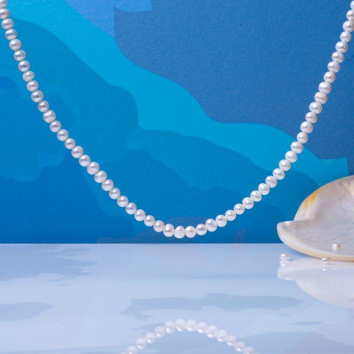 Collier perles de culture blanches